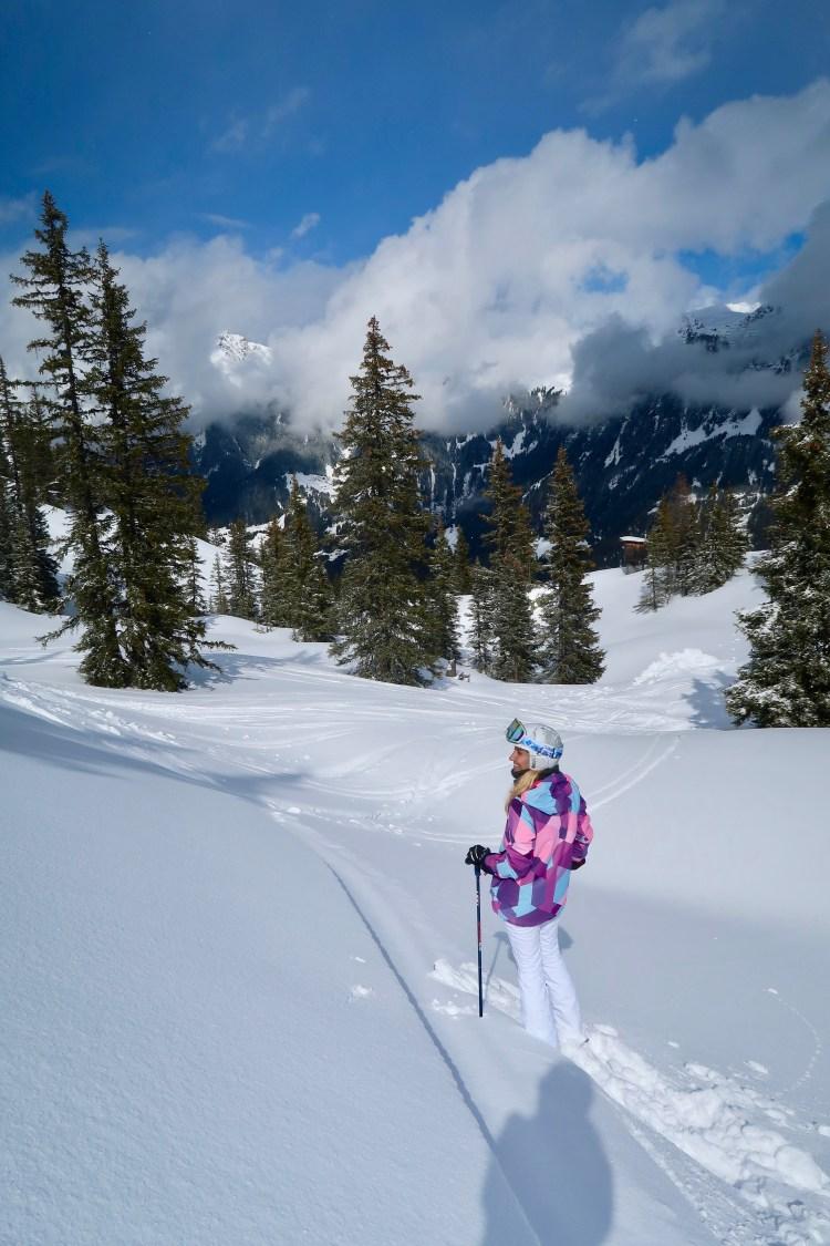 powder skiing Montafon