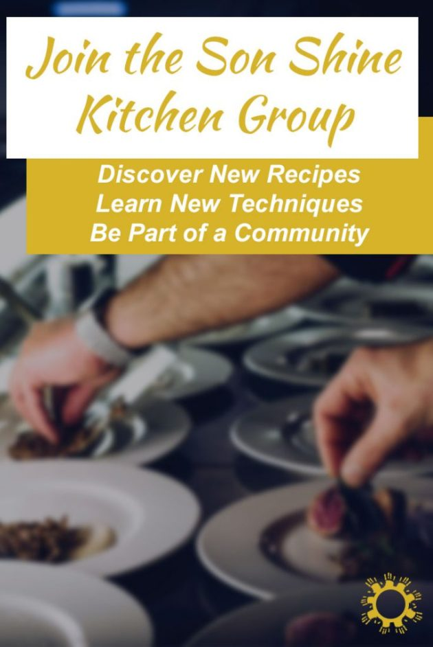 Join the Son Shine Kitchen Group on Facebook