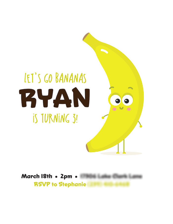 Let's Go Bananas: Ryan is Turning 3!