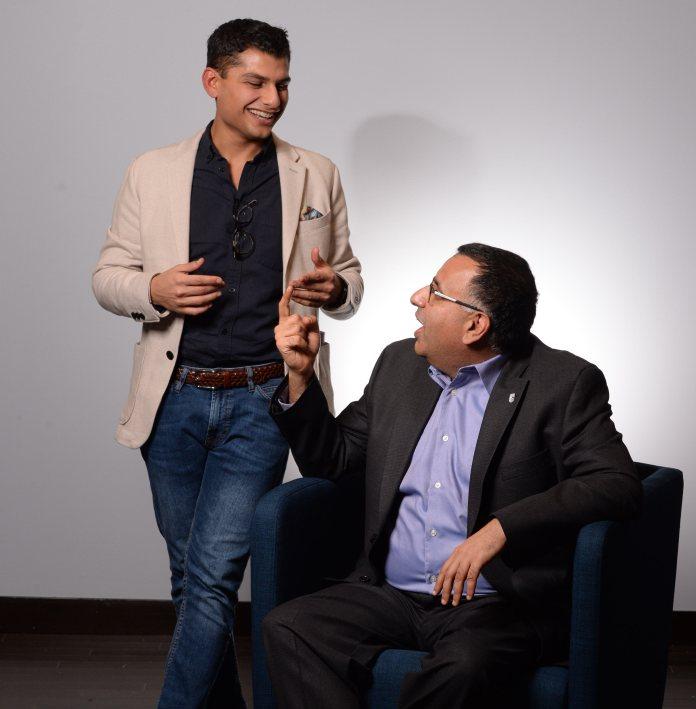 Professor Zubin Austin and Samier Kamar