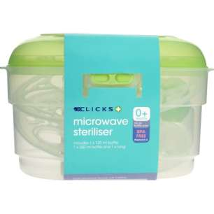 clicks bottle sterilizer
