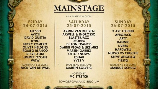 tomorrowland main stage line up