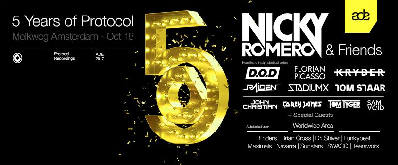 5 Years of Protocol | Nicky Romero & Friends ADE 2017