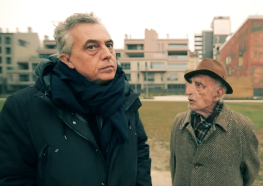 Stefano Boeri (a sinistra) assieme a Gillo Dorfles