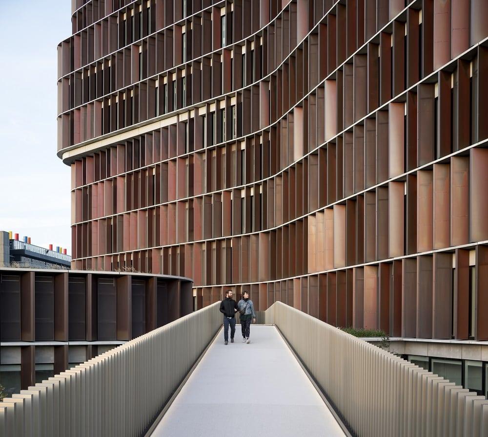 Architettura università copenhagen passerella soprelevata