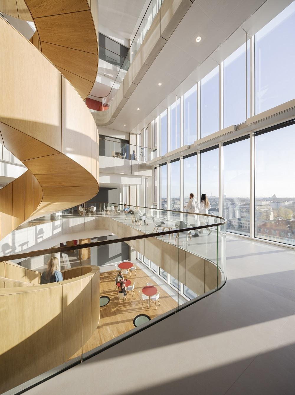Architettura università copenhagen scala a spirale principale