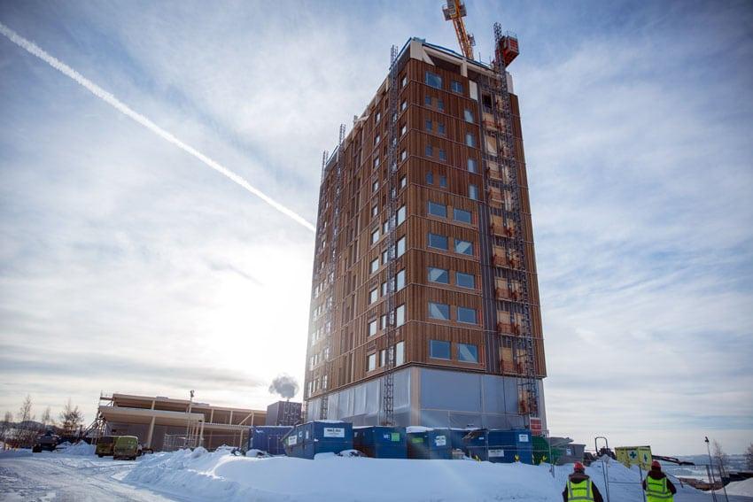Mjøstårnet, 18 piani in legno