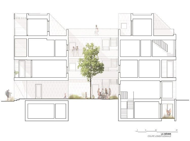 casa canada sezione longitudinale