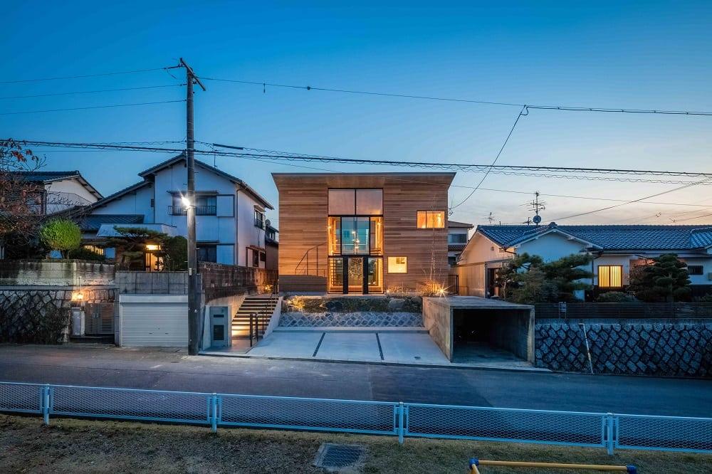architettura giappone prospetto strada