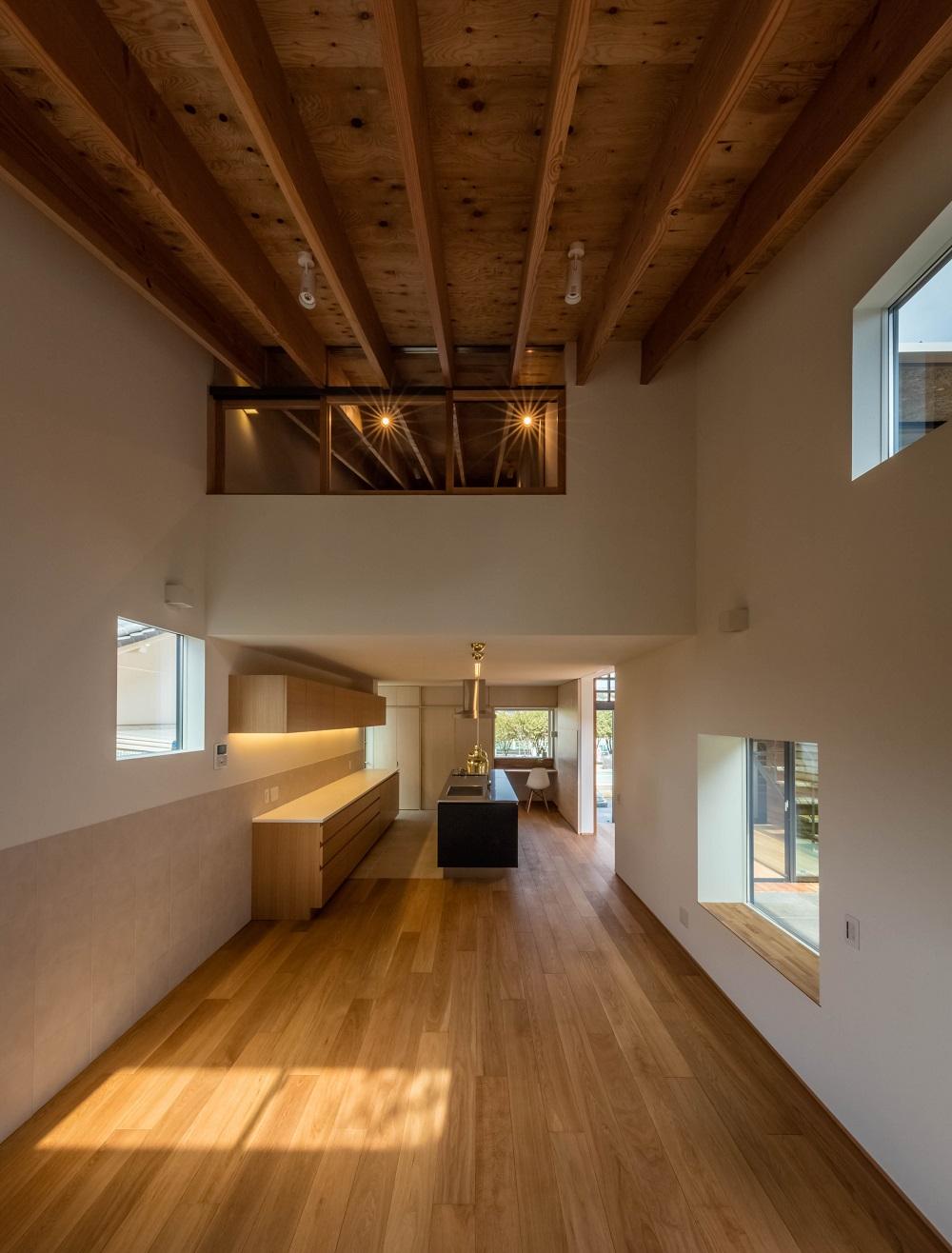 architettura giappone interni cucina e camera bambini