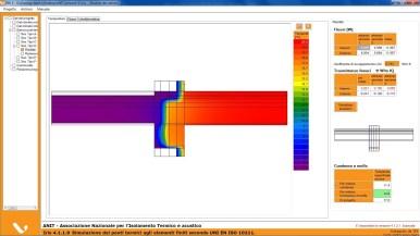 Fase 3 - Elaborazione del ponte termico corretto, con la distribuzione delle temperature