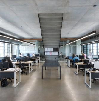 Zona open space degli uffici