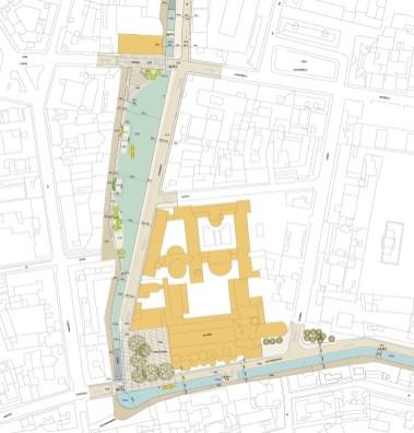 Planimetria del Laghetto di San Marco, progetto dallo Studio di Fattibilità (giugno 2015)