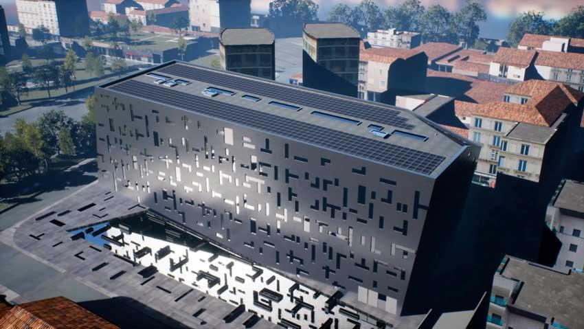 Rendering 3D del nuovo headquarters del Gruppo CAP. Photo: Luca Stortoni, Paris