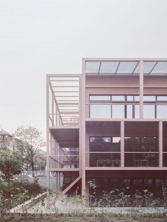 I diversi moduli di facciata. © Simone Bossi