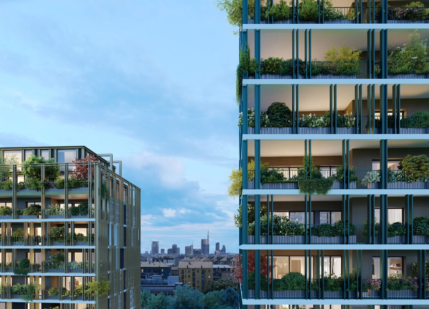 Rendering del progetto Park Towers