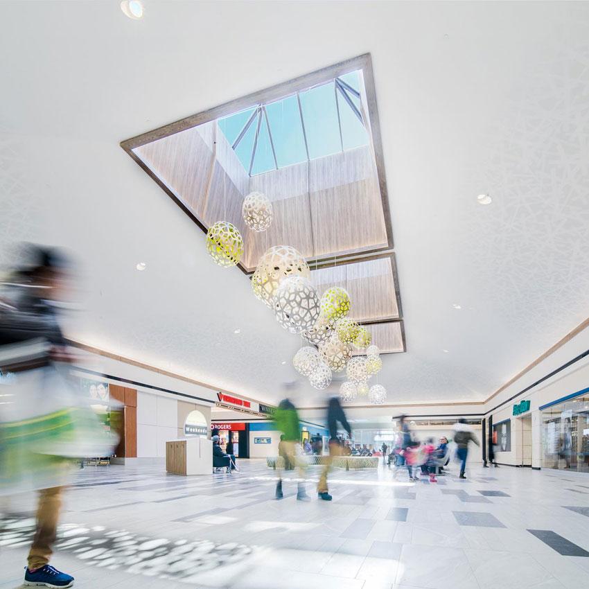 Garden City Shopping Centre in Canada, progettato da Ruscio Studio con piastrelle di Alfalux e Casalgrande Padana