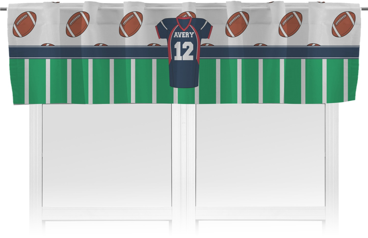Football Jersey Valance Personalized
