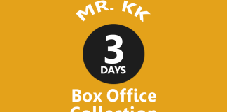 Mr. KK 3rd Day Box Office Collection