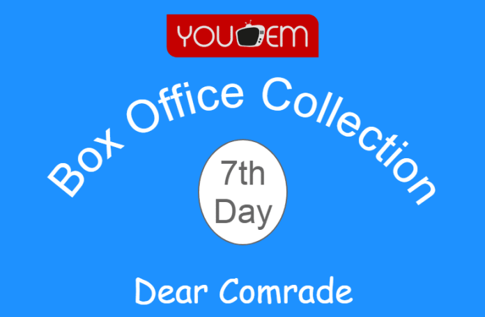 Dear Comrade 7th Day Box Office Collection