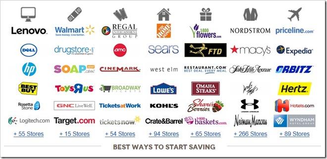 Corporate Perks 支持的品牌、商家