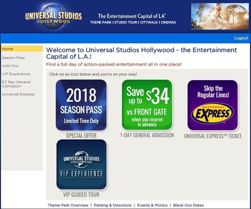Corporate Perks  好莱坞环球影城合作折扣售票网站