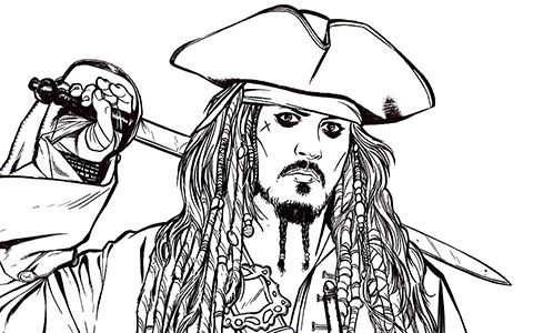 pirates of the caribbean coloring pages # 12