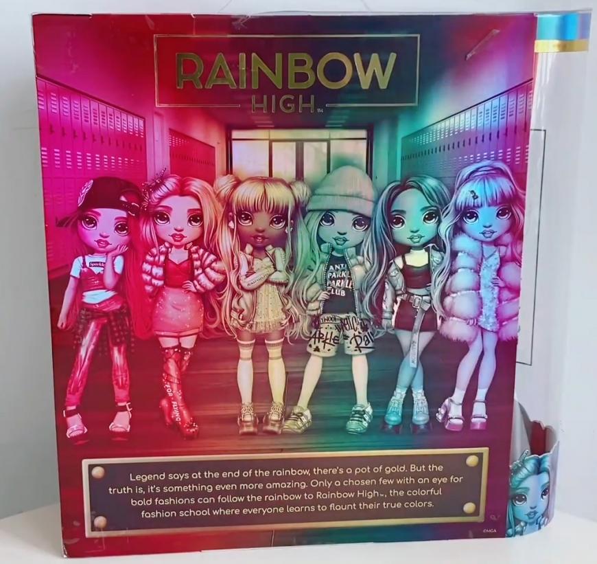 Rainbow High doll box