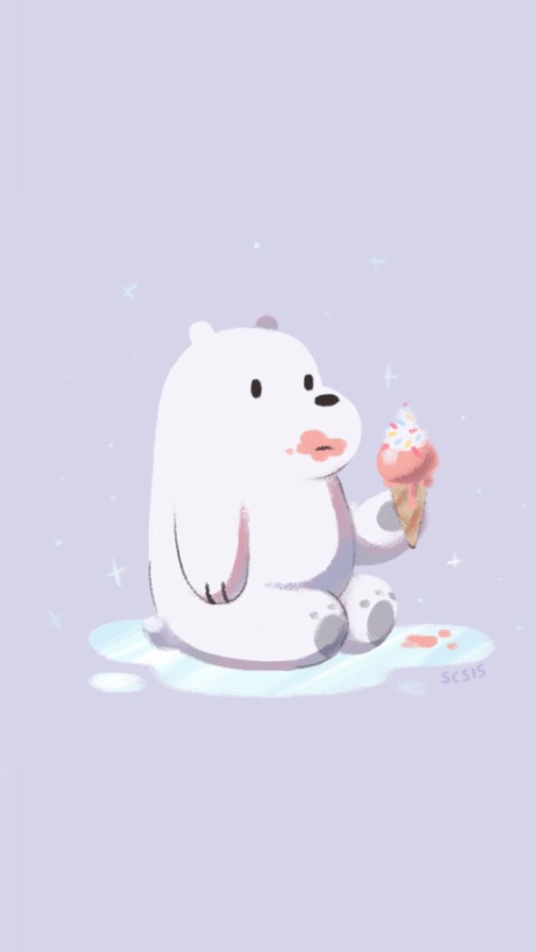 Ice Bear We Bare Bears Phone Wallpaper