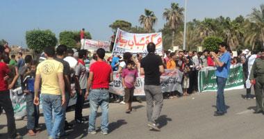 جانب من مظاهرة لشباب الثورة