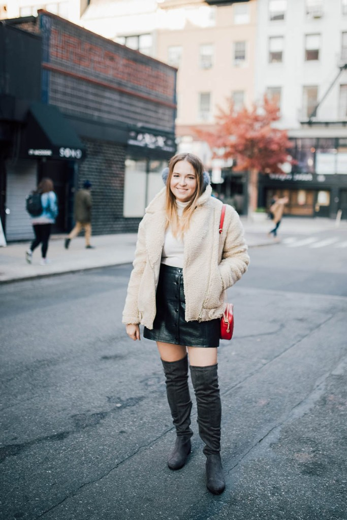 stylish cold weather winter outfit ideas over the knee boots