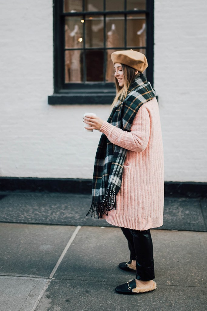 stylish cold weather winter outfit ideas duster sweater
