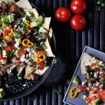 superbowl recipes loaded steak nachos