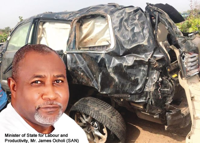 Image result for pictures of accident of Barrister James Ocholi and family