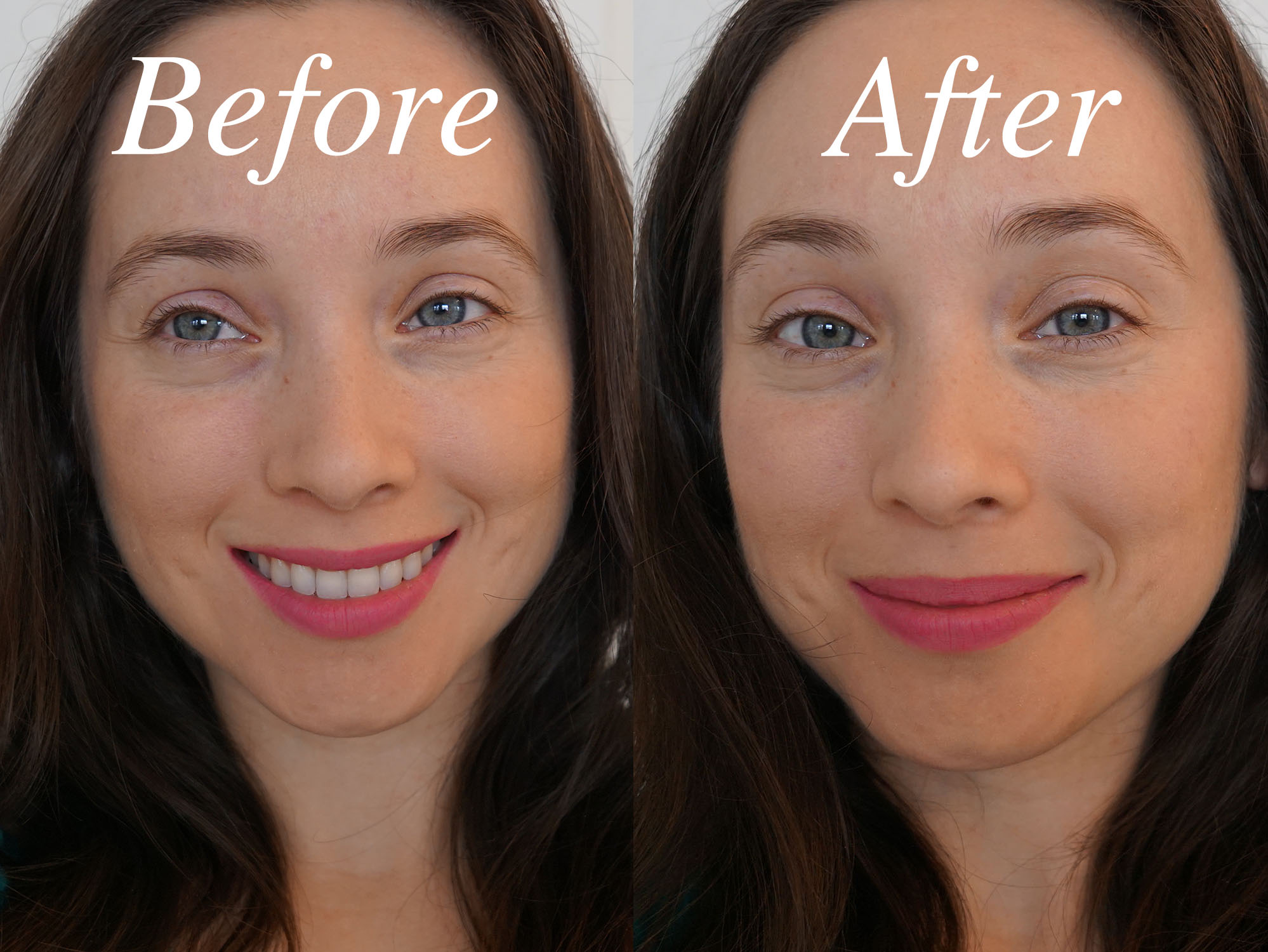 Before and After LAQA & Co. Cheek Tint