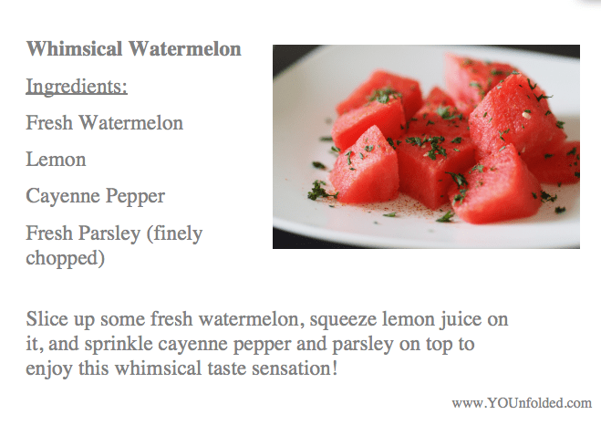 Whimsical Watermelon Recipe