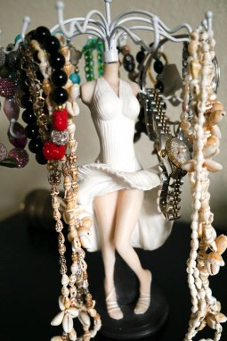 Marilyn Monroe jewelry holder my husband hates because it reminds him of Medusa LOL