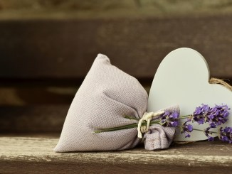 lavender heart bag