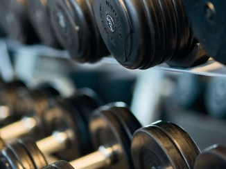 dumbbells in gym Move It Monday link party