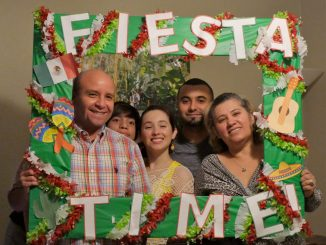 family with DIY fiesta time picture border younfolded blog