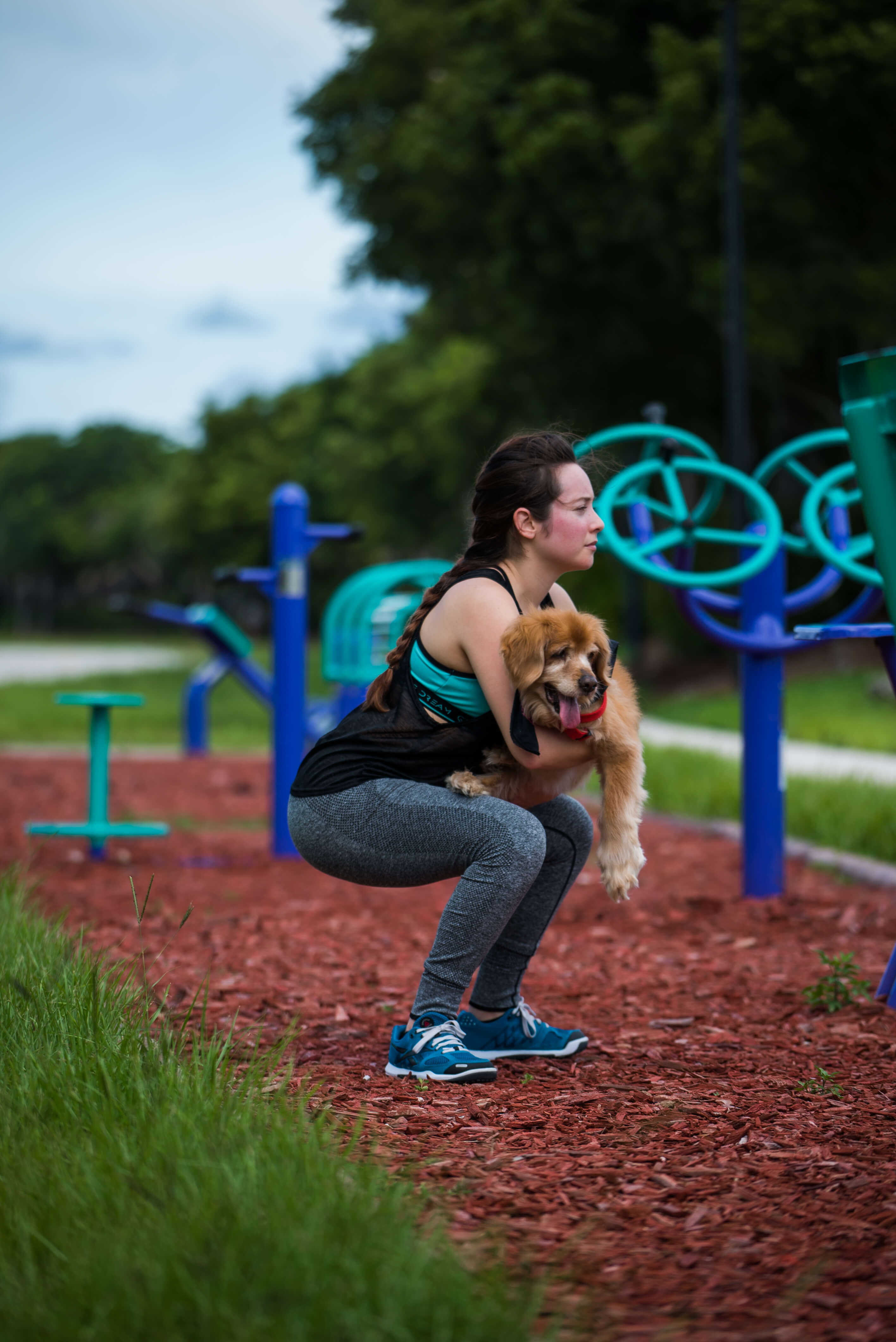 squat exercises and workouts with dog younfolded blog