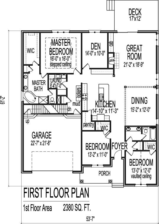 House Floor Plans 4 Bedroom 3 Bath 2 Story