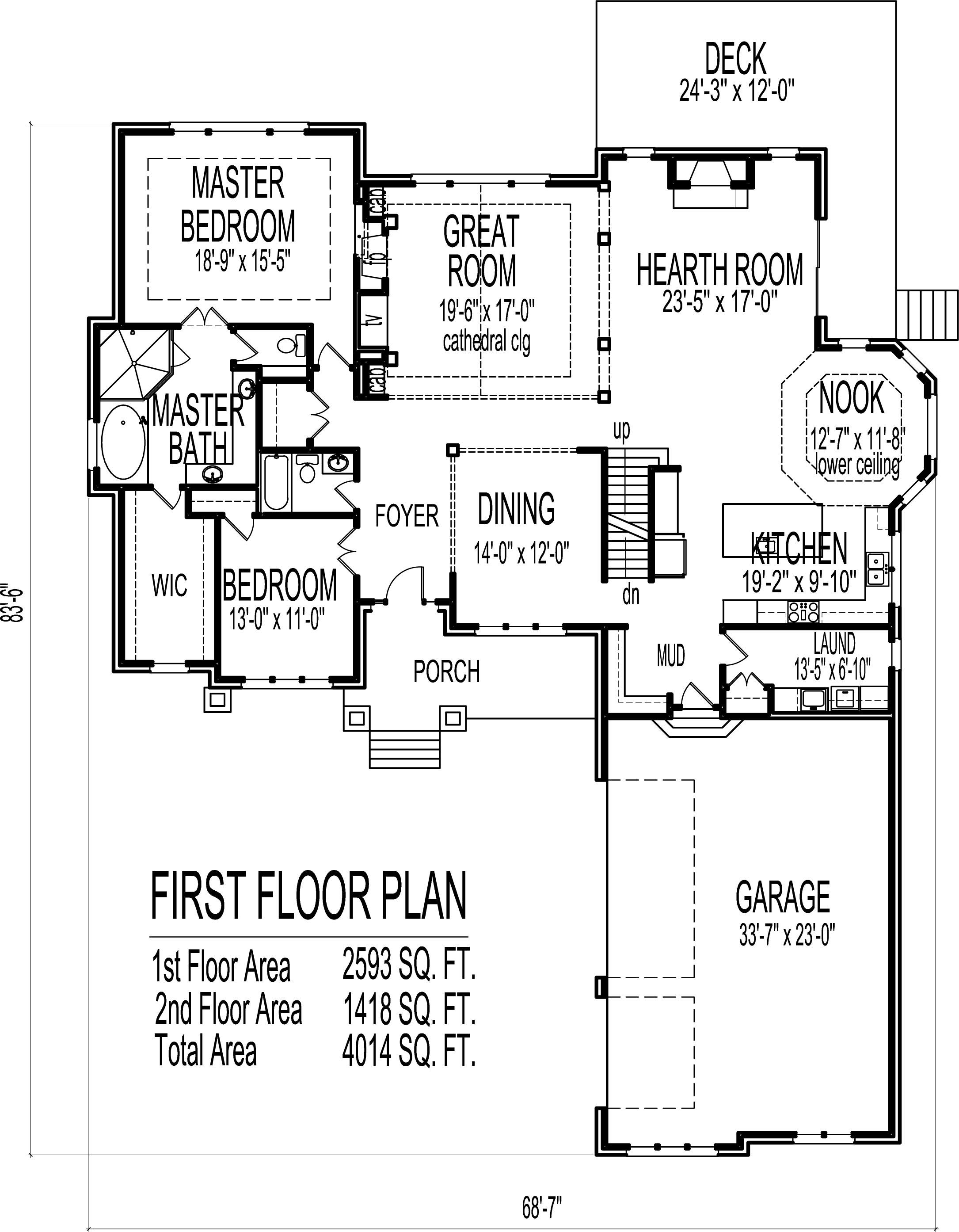 2 Story House Floor Plans 6 Bedroom Craftsman Home Design