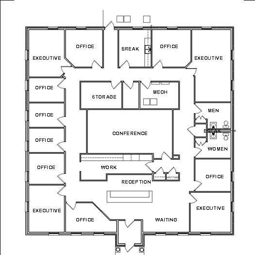 office space floor plan design home plans