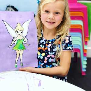 young artist with fairy painting