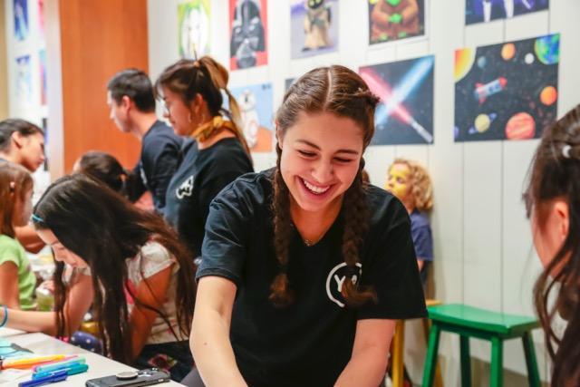happy art teacher