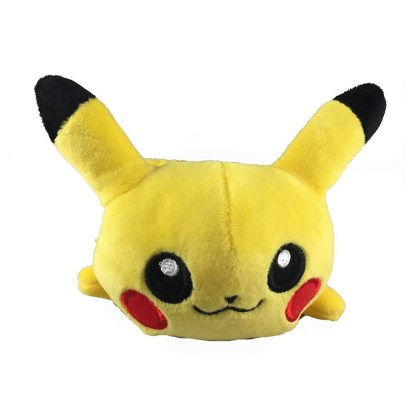 Front view of pikachu pencil case face