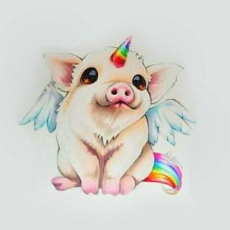 pig unicorn composition