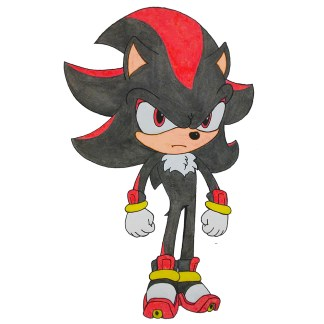 shadow the hedgehog composition