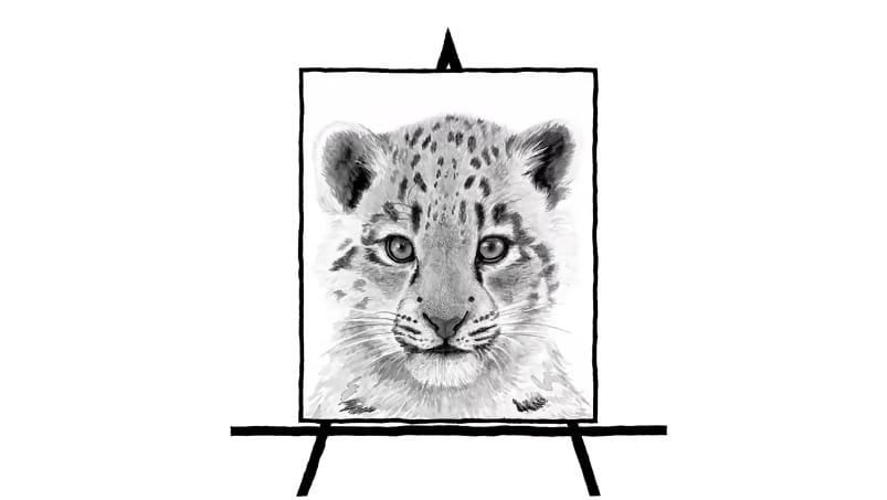 sketch of snowleopard
